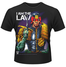 CAMISETA JUEZ DREDD I AM THE LAW TALLA M