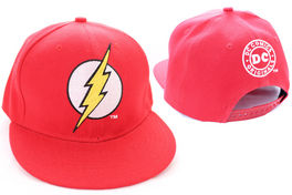GORRA BEISBOL THE FLASH LOGO ROJA