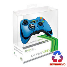 CONTROLLER WIRELESS MS CHROME AZUL ED LIMITADA XBOX 360 (SEMINUEVO)