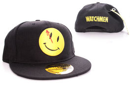GORRA BEISBOL WATCHMEN SMILEY LOGO BLACK