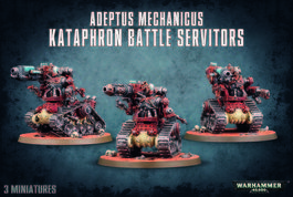 WH 40K ADEPTUS MECHANICUS KATAPHRON BATTLE SERVITORS (CAJA)
