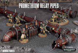 WH 40K PROMETHIUM RELAY PIPES (TUBERIAS DE PROMETIO)