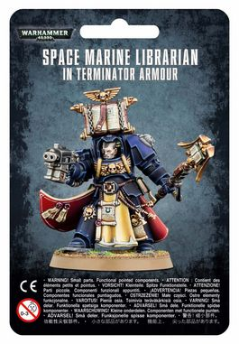 WH 40K  SPACE MARINE LIBRARIAN IN TERMINATOR ARMOUR (BLISTER)