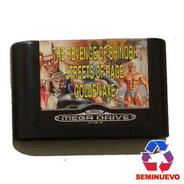 PACK MEGA GAMES 2 REVENGE OF SHINOBI - STREETS OF RAGE - GOLDEN AXE MEGA DRIVE (SEMINUEVO)