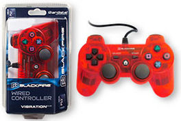 CONTROLLER BLACKFIRE WIRED ROJO ADT PS3