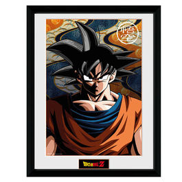POSTER ENMARCADO DRAGON BALL SON GOKU 45 x 34 CM