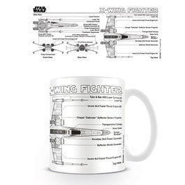 TAZA STAR WARS X-WING FIGHTER SKETCH