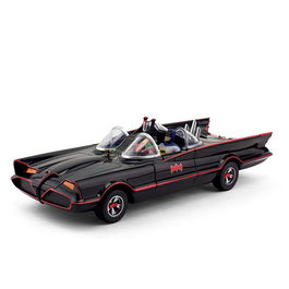 BATMOVIL 1966 CON FIGURAS MALEABLES BATMAN & ROBIN