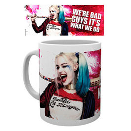 TAZA DC COMICS SUICIDE SQUAD HARLEY QUINN WINK