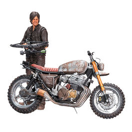 FIGURA THE WALKING DEAD DELUXE DARYL DIXON CON CHOPPER SEASONS 5/6 25 CM