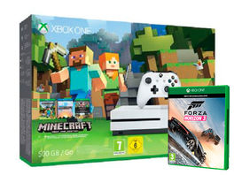 CONSOLA XBOX ONE S 500 GB BLANCA + MINECRAFT + FORZA HORIZON 3 XBOX ONE