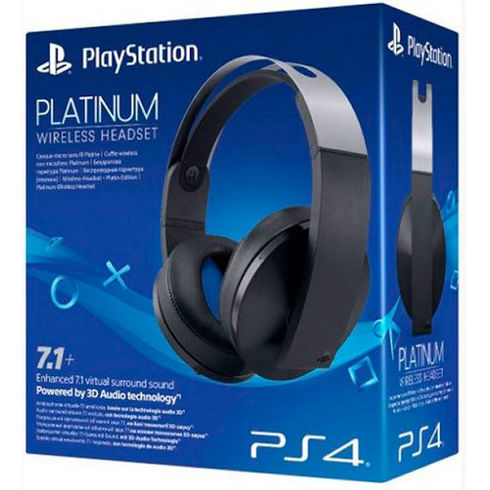 AURICULARES HEADSET WIRELESS 7.1+ PLATINUM OFICIAL SONY BLANCOS  PS4 - VR - PC - MAC