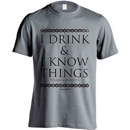 CAMISETA JUEGO DE TRONOS I DRINK & KNOW THINGS