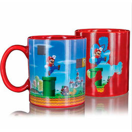 TAZA SENSIBLE AL CALOR SUPER MARIO LEVEL UP