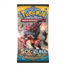 CARTAS POKEMON SOL Y LUNA SOBRE 10 CARTAS