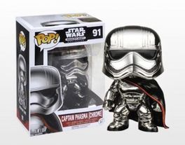 FIGURA POP STAR WARS SMUGGLERS BOUNTY EXCLUSIVE CAPTAIN PHASMA (CHROME) 9 CM