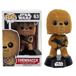 FIGURA POP STAR WARS CHEWBACCA (FLOCKED) 9 CM