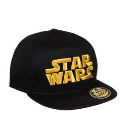 GORRA STAR WARS LOGO BORDADO DORADO