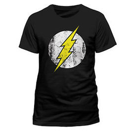 CAMISETA MARVEL FLASH LOGO DISTRESSED