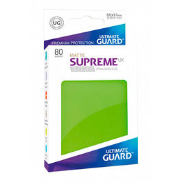 ULTIMATE GUARD SUPREME UX SLEEVES FUNDAS TAMAÑO ESTANDAR VERDE CLARO MATE (80)