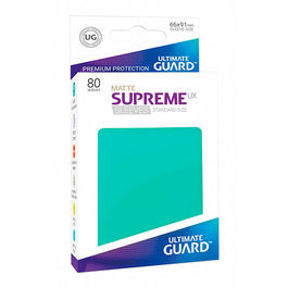 ULTIMATE GUARD SUPREME UX SLEEVES FUNDAS TAMAÑO ESTANDAR TURQUESA MATE (80)