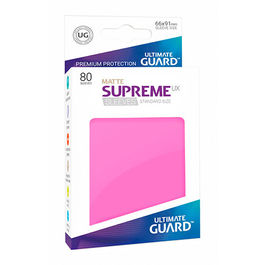 ULTIMATE GUARD SUPREME UX SLEEVES FUNDAS TAMAÑO ESTANDAR ROSA MATE (80)