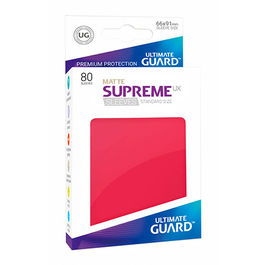 ULTIMATE GUARD SUPREME UX SLEEVES FUNDAS TAMAÑO ESTANDAR ROJO MATE (80)