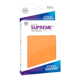 ULTIMATE GUARD SUPREME UX SLEEVES FUNDAS TAMAÑO ESTANDAR NARANJA MATE (80)