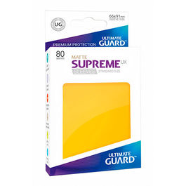 ULTIMATE GUARD SUPREME UX SLEEVES FUNDAS TAMAÑO ESTANDAR AMARILLO MATE (80)