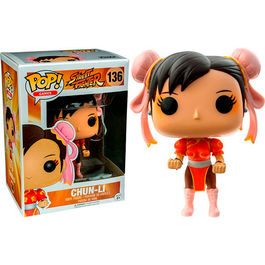 FIGURA POP STREET FIGHTER CHUN-LI RED OUTFIT 9  CM