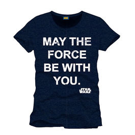 CAMISETA STAR WARS MAY THE FORCE TALLA L