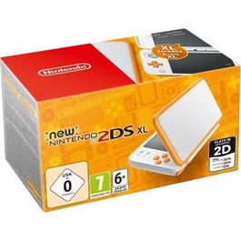 CONSOLA NEW NINTENDO 2DS XL BLANCO-NARANJA + NEW ART ACADEMY 3DS