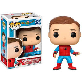 FIGURA POP SPIDER-MAN HOMECOMING HOMEMADE SUIT UNMASKED 9 CM