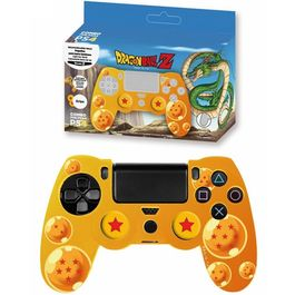 CARCASA PROTECTORA + GRIPS + PEGATINA DRAGON BALL YELLOW PS4