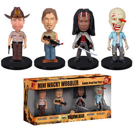 FIGURAS MINI WACKY WOBBLER THE WALKING DEAD PACK 8 CM