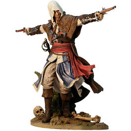 ESTATUA ASSASSINS CREED IV BLACK FLAG EDWARD KENWAY THE ASSASSIN PIRATE 24 CM