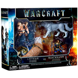 WORLD OF WARCRAFT PACK DE 2 FIGURAS LOTHAR VS BLACKHAND