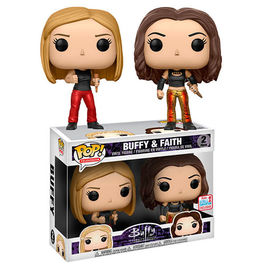 FIGURA POP BUFFY THE VAMPIRE SLAYER 25TH BUFFY & FAITH FALL CONVENTION 2017 EXCLUSIVE 9 CM