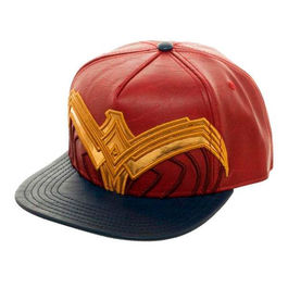 GORRA DC COMICS WONDER WOMAN LOGO CUERO