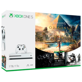 CONSOLA XBOX ONE S 1 TB + ASSASSINS CREED ORIGINS + RAINBOW SIX SIEGE XBOX ONE