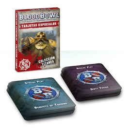 WH CARTAS ESPECIALES EQUIPO TITANES (CARTAS BLOOD BOWL)