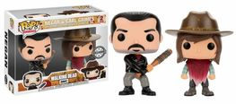 PACK FIGURAS POP WALKING DEAD NEGAN & CARL EXCLUSIVE 9 CM