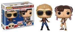 PACK FIGURAS POP MARVEL VS CAPCOM CAPTAIN MARVEL VS CHUN-LI 9 CM
