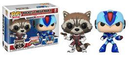 PACK FIGURAS POP MARVEL VS CAPCOM ROCKET VS MEGA MAN X 9 CM