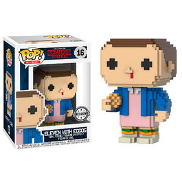 FIGURA POP 8-BIT STRANGER THINGS ELEVEN WITH EGGOS EXCLUSIVE 9 CM