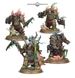 WH 40K LORD FELTHIUS Y THE TAINTED COHORT (EASY TO BUILD DEATH GUARD)
