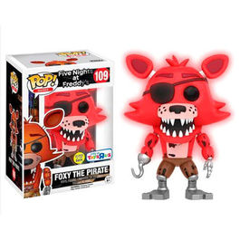 FIGURA POP FIVE NIGHTS AT FREDDY´S FOXY THE PIRATE GLOW IN THE DARK EXCLUSIVE 9 CM