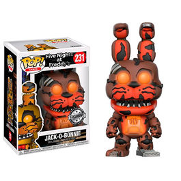 FIGURA POP FIVE NIGHTS AT FREDDY´S JACK-O-BONNIE GLOW IN THE DARK EXCLUSIVE 9 CM