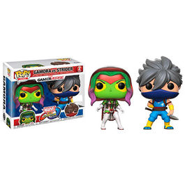 PACK FIGURAS POP MARVEL VS CAPCOM GAMORA VS STRIDER EXCLUSIVE VERSION 9 CM