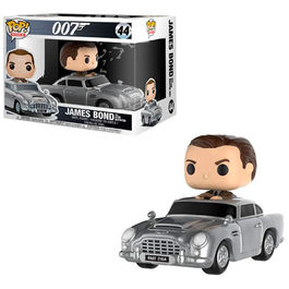 FIGURA POP JAMES BOND SEAN CONNERY AND ASTON MARTIN DB4 15 CM